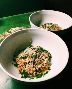 Barley Risotto with Porcini Twice Two Ways