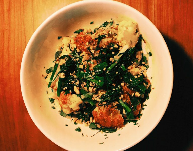 Turmeric & Ginger Baked Cauliflower with Scallions & Dill by Tasty Decoy