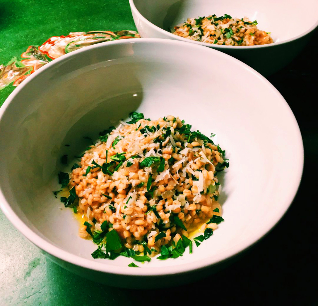 Barley Risotto with Porcini Twice Two Ways by Tasty Decoy