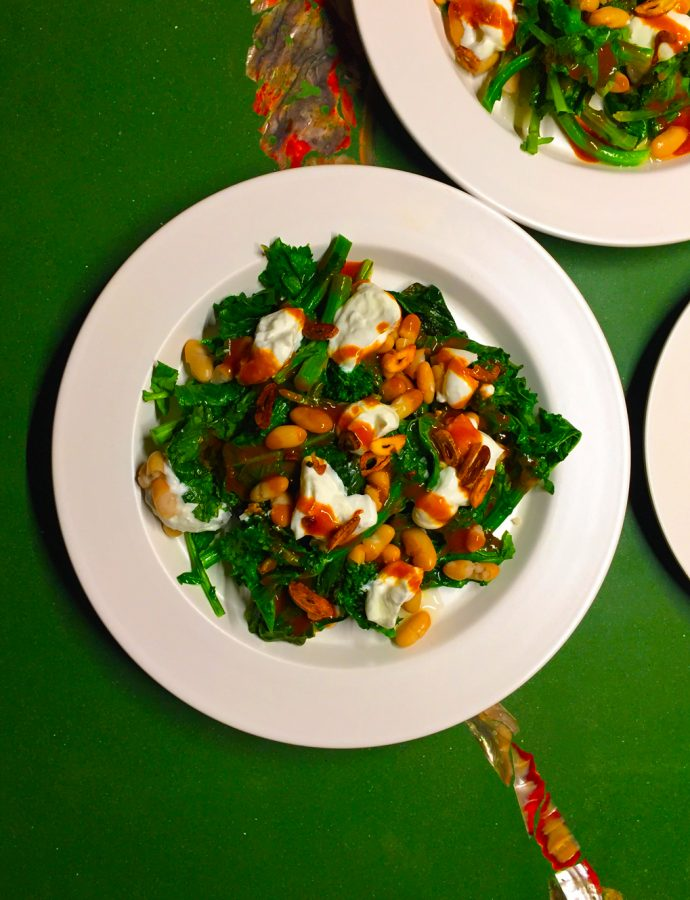 Rapini, Cannellini Beans & Yogurt